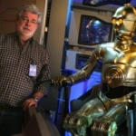 Star Sighting:  George Lucas Visits Disneyland's 'Star Tours' Attraction
