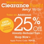 Save an Additional 25% on Select Toys This Weekend at DisneyStore.com