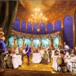 First Look:  Be Our Guest Restaurant's Ballroom Comes Alive