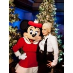 Star Sighting: Christina Aguilera, Nick Cannon and Others Visit Disneyland Resort for Christmas Taping