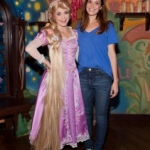 Star Sighting: Mandy Moore Poses with Rapunzel at Disneyland Resort