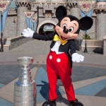 The Stanley Cup Visits Mickey Mouse at Disneyland Park