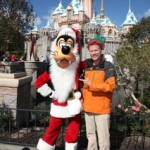 Star Sighting: Will Ferrell Poses with Santa Goofy at Disneyland Park