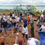 Walt Disney World Cast Member VoluntEARS Build New Playground