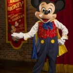 Magician Mickey Mouse Meets and Talks to Guests at Town Square Theater