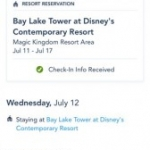Online Check-In Available on My Disney Experience App