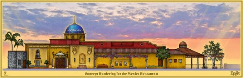 Cantina de San Angel Concept Art copyright Disney