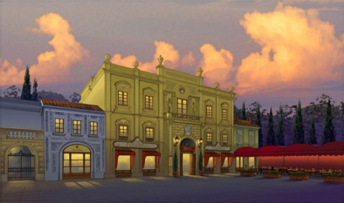 Italy Pizzeria Concept Art copyright Disney