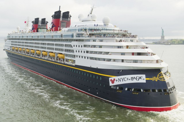 The Disney Magic Arrives In New York City Embarks On Disneys - What cruise ships leave from nyc