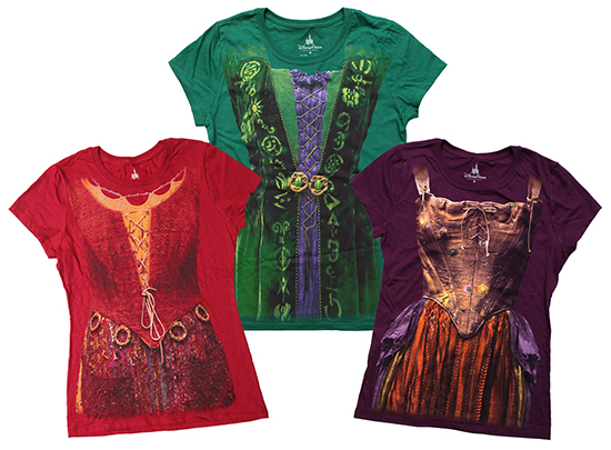 just in time for halloween and mickeys not so scary halloween party the disney parks online store will be selling hocus pocus inspired tees this month