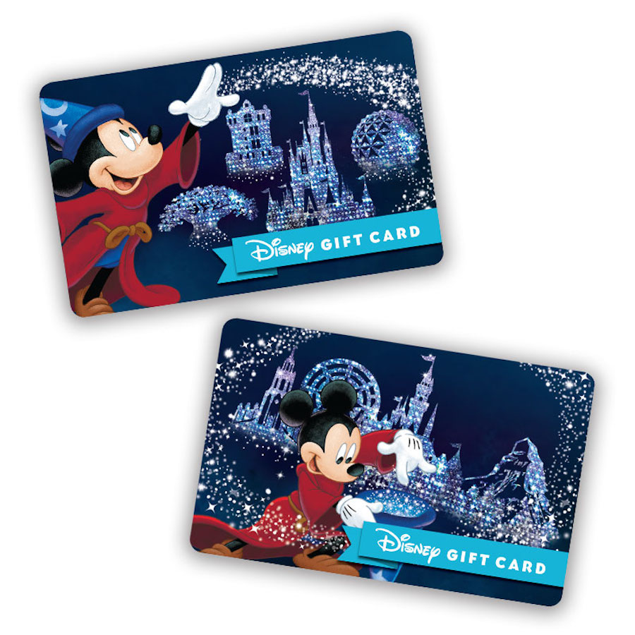 New Disney Gift Card Designs Feature Walt Disney World Resort Park ...
