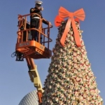 Disney World and Toys for Tots Create Duffy the Bear Christmas Tree
