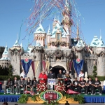 2013 Rose Bowl Teams Stanford Cardinal and Wisconsin Badgers Visit Disneyland