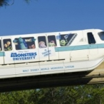 'Monsters University' wrapped monorail debuts at Walt Disney World