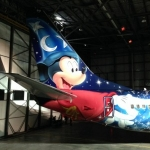 WestJet Unveils Custom-Painted Aircraft Featuring Sorcerer Mickey