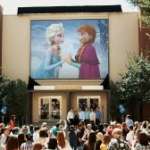 'Frozen' Honored at The Walt Disney Studios with New Marquee on Building's Façade