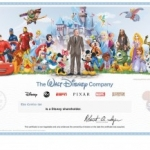The Walt Disney Company Unveils Collectible Shareholder Certificate