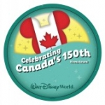 Canada Pavilion at Epcot Celebrating Canada's 150th Birthday with Special Pin